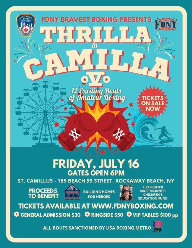 FDNY Bravest Boxing Presents - Thrilla in Camilla! @ St. Camillus
