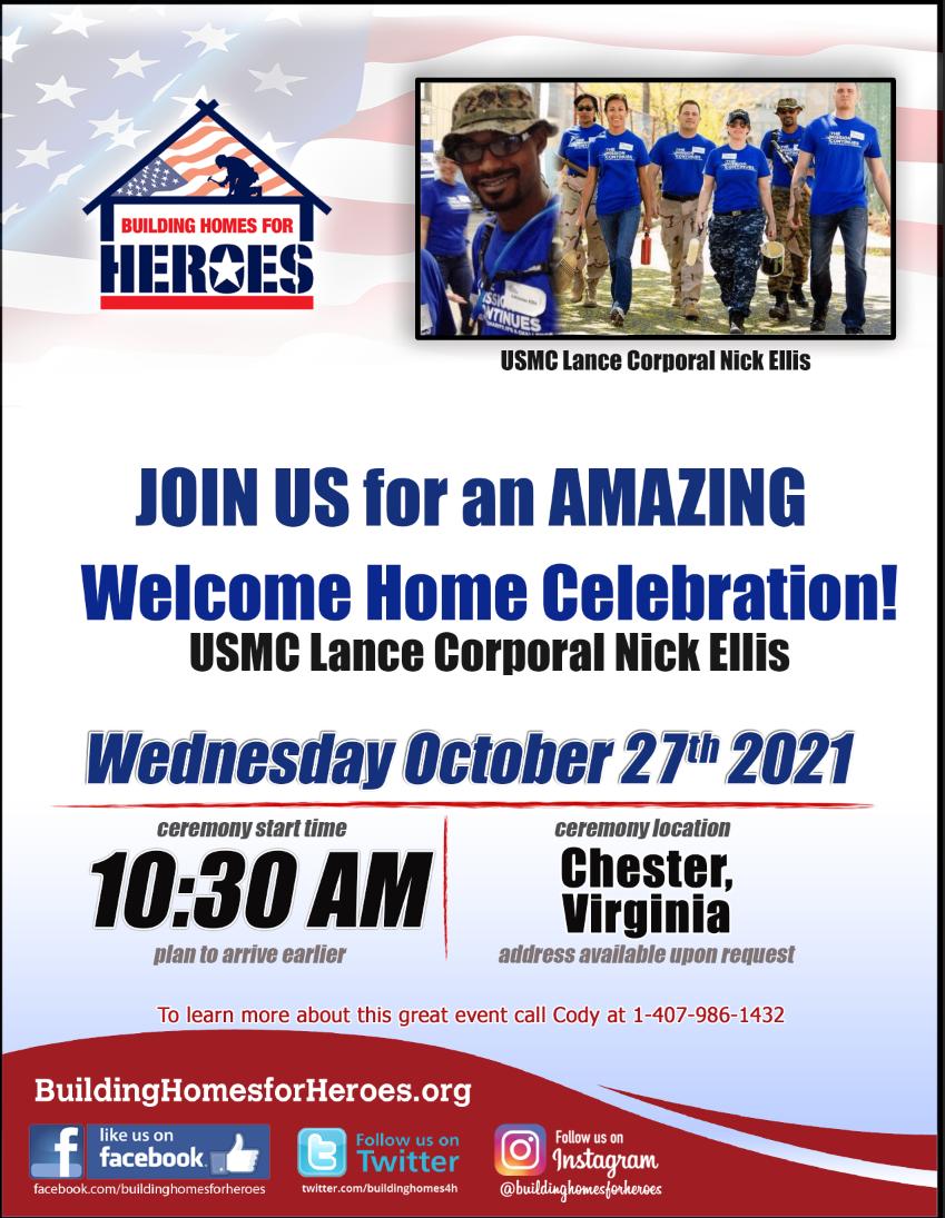 Chester, VA Home Ceremony!