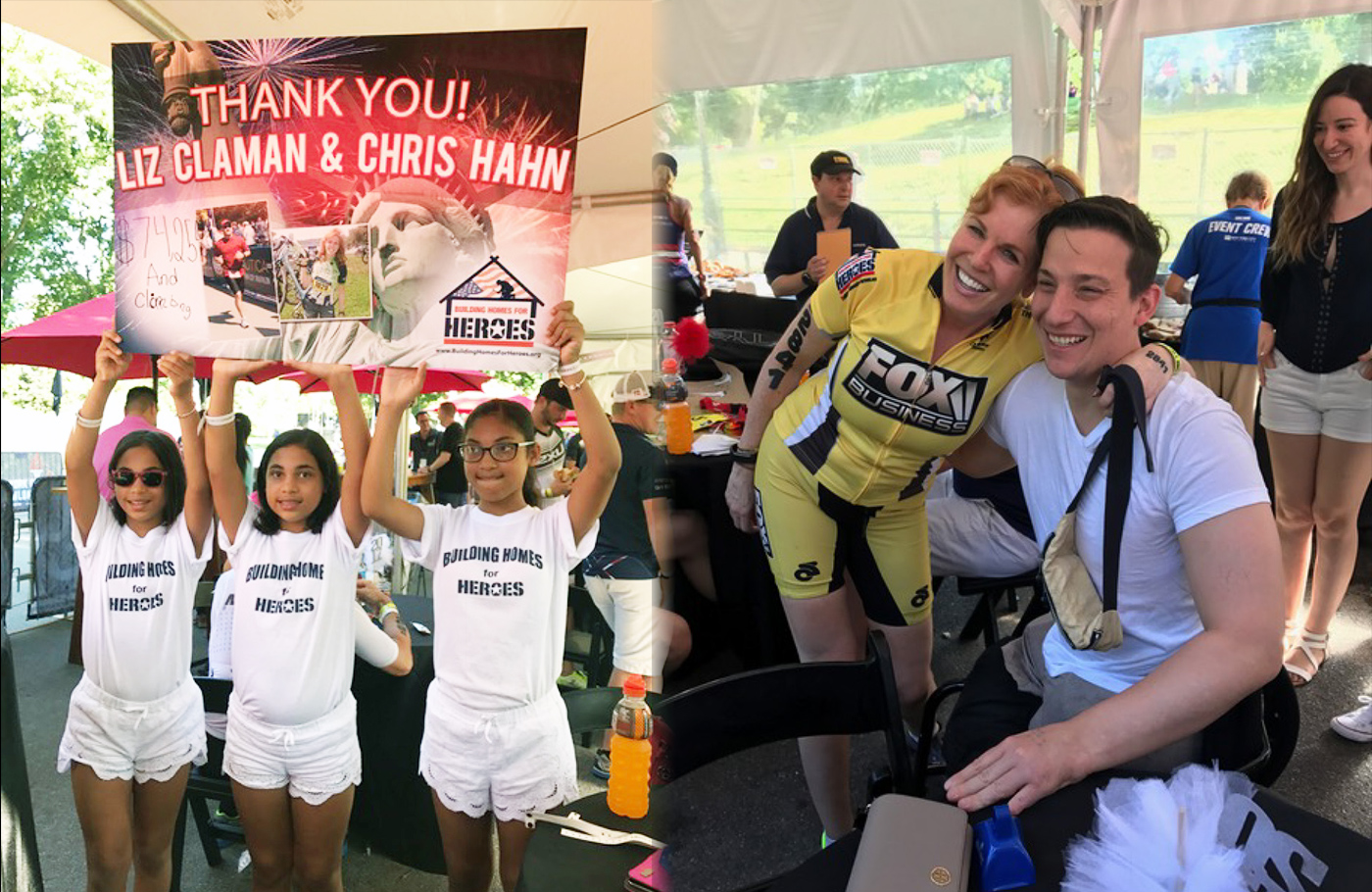 2019 NYC Triathlon - Help Support Liz Claman and Chris Hahn Raise funds for our Heroes