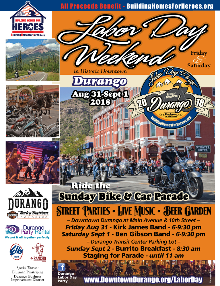 Durango Labor Day Weekend Bike & Car Parade @ Durango, Colorado