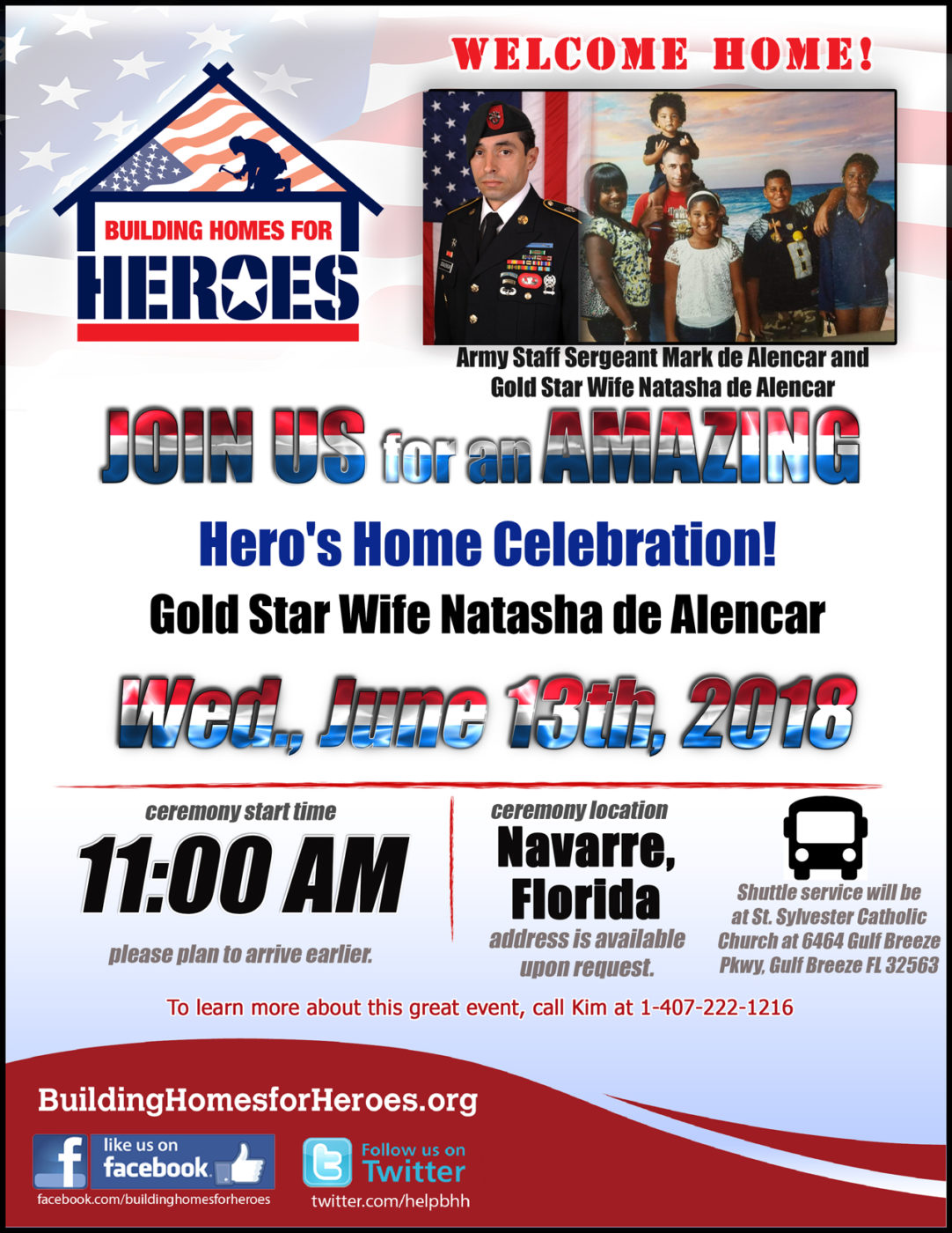 Hero's Home Celebration for Gold Star Wife De Alencars @ Welcome Home Celebration