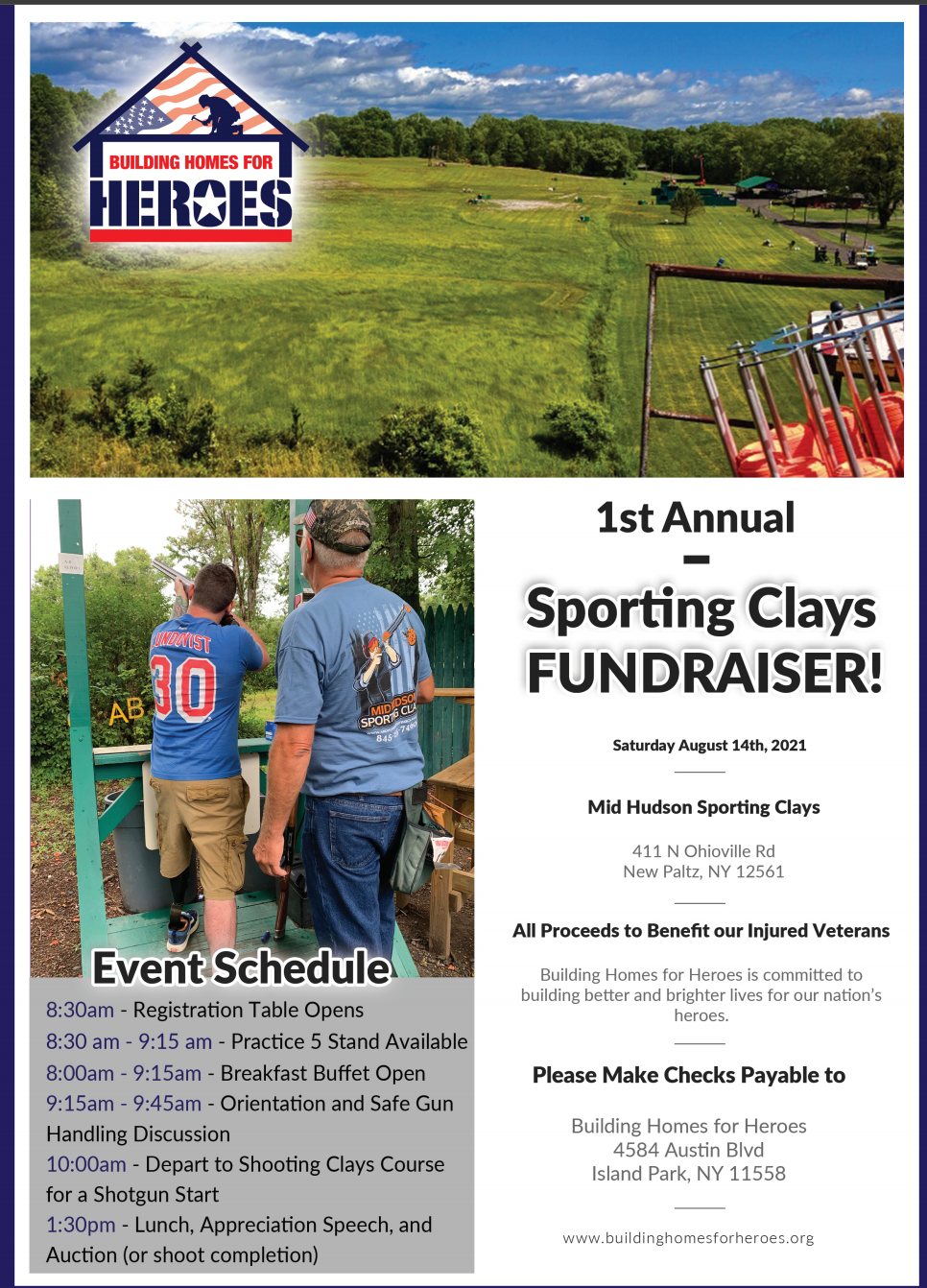 1st Annual Shooting Clays Fundraiser! @ Mid Hudson Sporting Clays