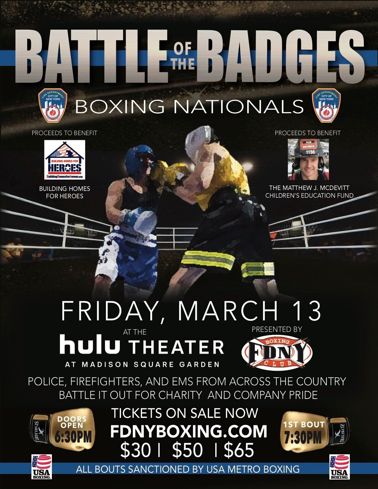 Battle of the Badges - 2020 Boxing Nationals @ Madison Square Garden