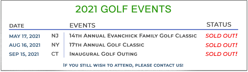 2021 Golf Events