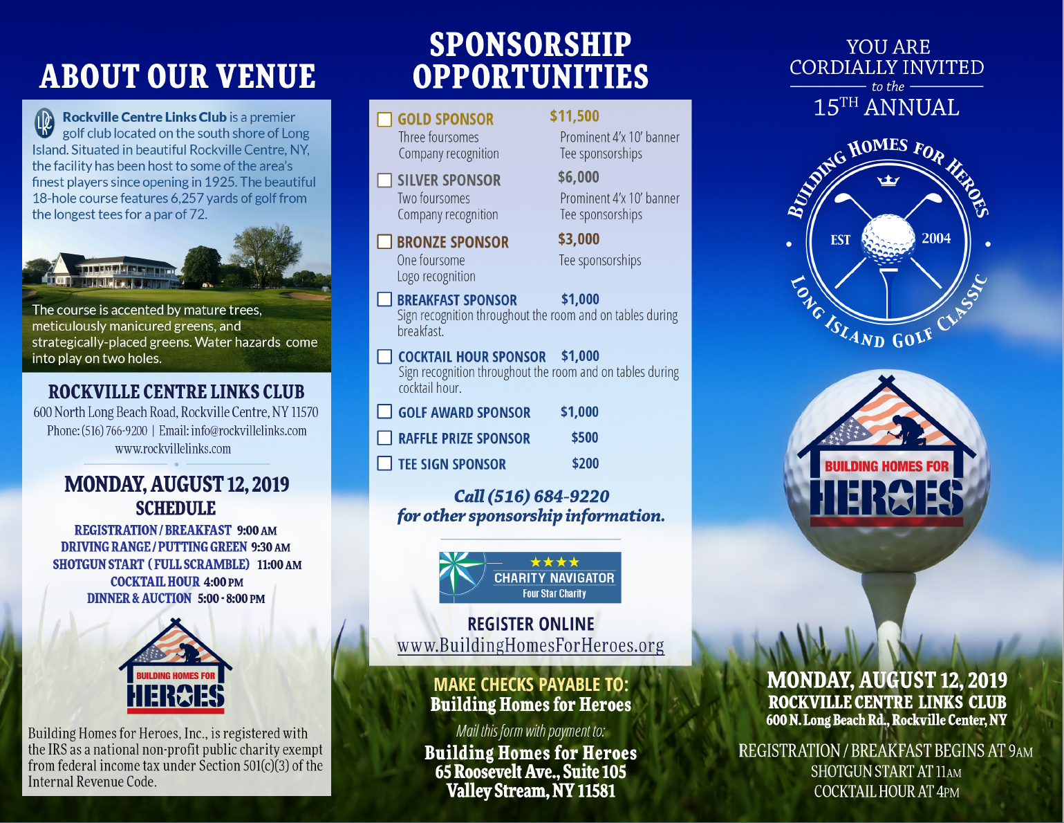 15th Annual Long Island Golf Classic @ Rockville Links Country Club